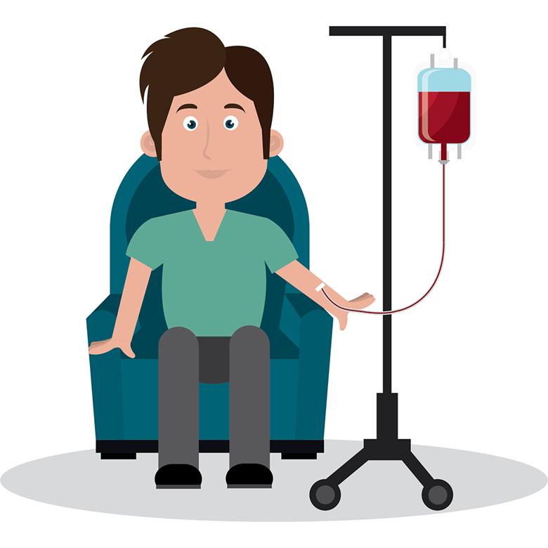 Dárce krve při odběru - ilustrace